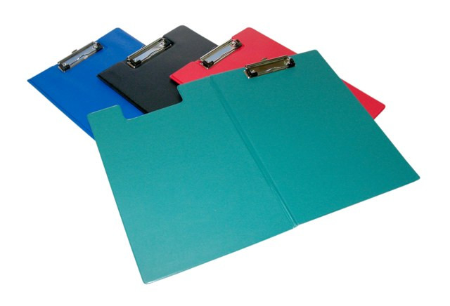 Папка-планшет А4, с верхним прижимом, синяя PVC Eisear
