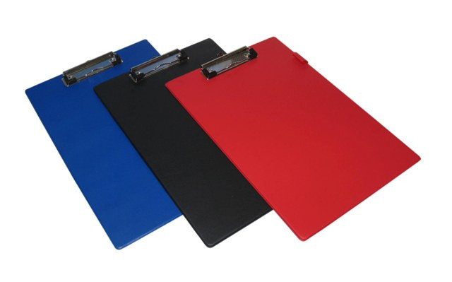 Планшет А4, с верхним прижимом, красный PVC Eisear