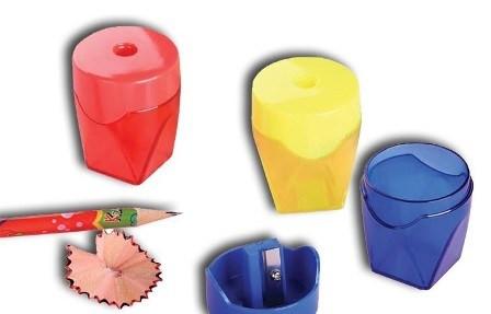 Точилка 1 отверстие, форма цилиндр, с контейнером, пластик Epene