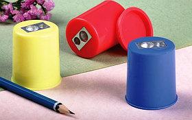 Точилка с контейнером, 2 отверстие , форма цилиндра, пластик Epene