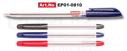 Ручка шариковая 0,5 мм, красная, корпус прозрачный Epene