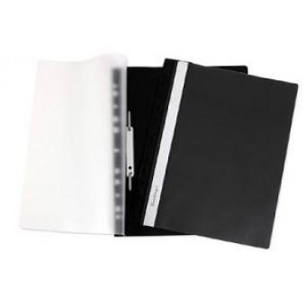 Папка-скоросшиватель А4, пластик/прозрачный верх, черная