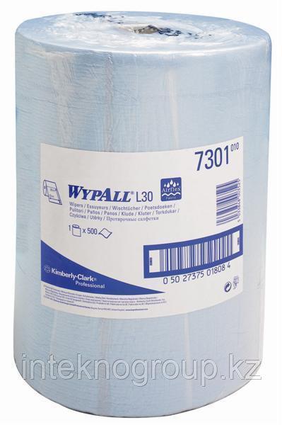 Протирочный материал Kimberly-Clark 7301 WYPALL L30, протирочные салфетки в рулонах (голубые)