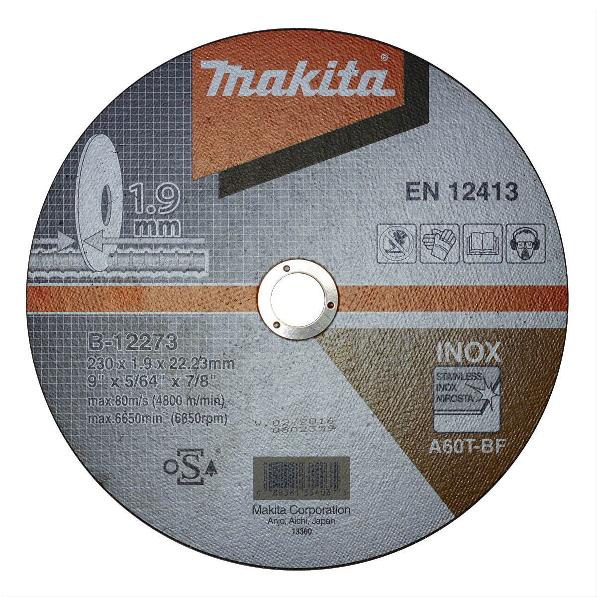Отрезной диск по металлу Makita A60T-BF 180x1.6 мм