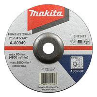 Шлифовальный диск по металлу Makita A36P 180x6 мм