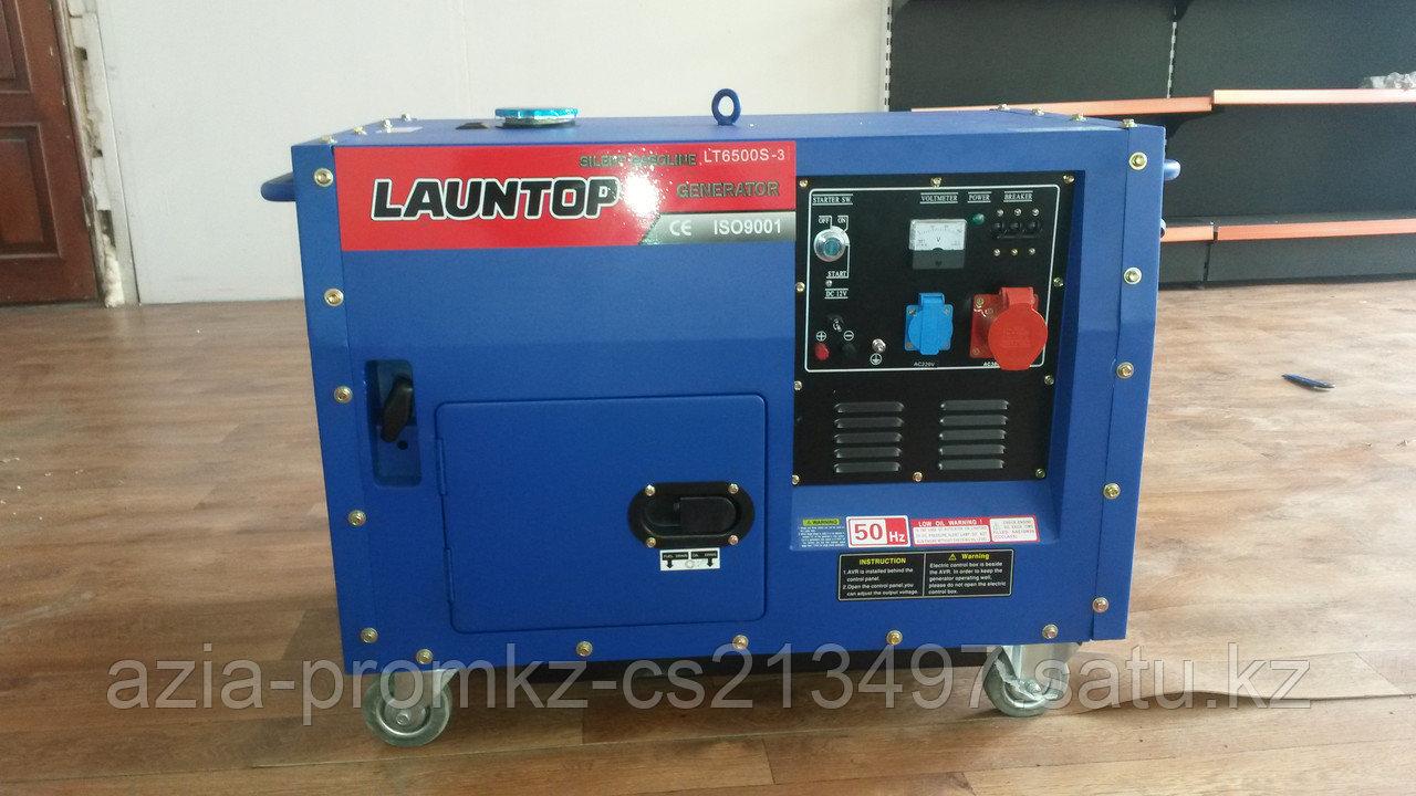 Бензиновый генератор LAUNTOP LT6500S-3 в кожухе