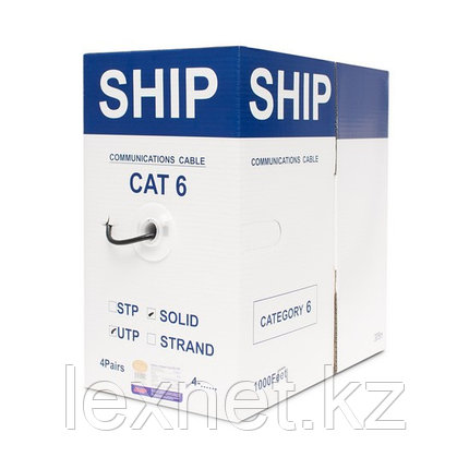 Кабель сетевой, SHIP, D165A-C, Cat.6, UTP, 4x2x1/0.574мм, PE, 305 м/б (Влагостойкий, Для наружных работ), фото 2