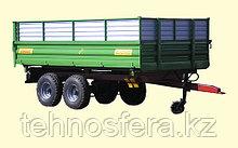 Тракторный полуприцеп с трехсторонней разгрузкой ТСП-10т к тракторам МТЗ-82, грузоподъемность 8 т, объем 5-16