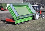 Тракторный полуприцеп с трехсторонней разгрузкой ТСП-10т к тракторам МТЗ-82, грузоподъемность 8 т, объем 5-16 , фото 3