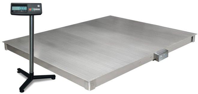 Весы платформенные 4D  P.S  2 1500 A платформа и индикатор из нержавеющей стали