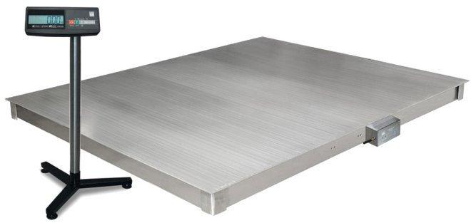 Весы платформенные 4D  P.S  2 1500 A платформа и индикатор из нержавеющей стали , фото 2