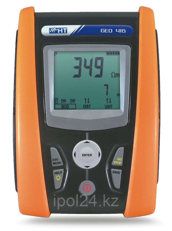 Тестер для измерения сопротивления заземления и удельного сопротивления заземления с загрузкой данных GEO416