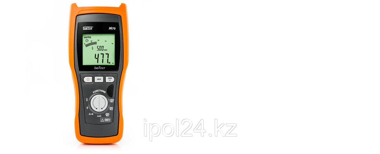 Профессиональный измерительный прибор изоляции с программируемым испытательным напряжением до 5 кВ, ISOTEST M7