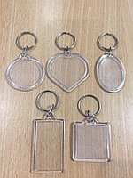 Акриловый брелок - прямоугольник, квадарт, круг, овал, сердце (заготовки)
