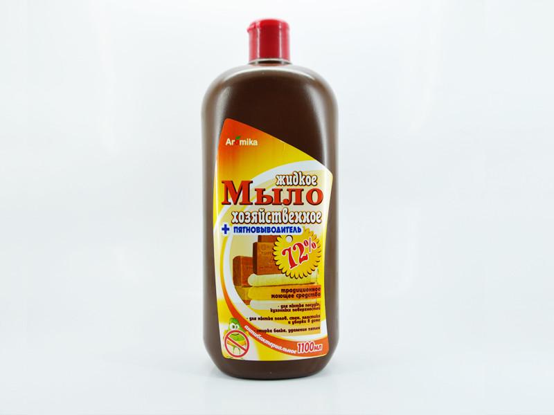 Мыло жидкое хозяйственное Aromika 72% 1,1л антигрязь