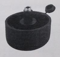 Мебельная опора регулиремая, пластик, черная, D 50 мм, фото 1