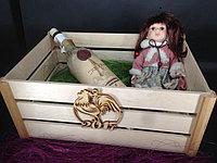 Упаковка для подарка деревянная коробка без крышки 33*24*14см.