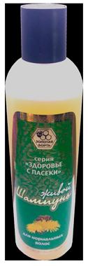 Натуральный шампунь для сухих и поврежденных волос, с медом и маточным молочком, без парабенов, 320мл