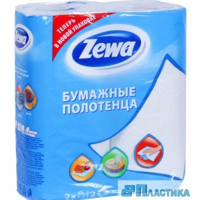 Бумажные полотенца Зева Плюс (Zewa Plus) Белое 2рулона 2слоя/упаковка