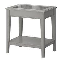 Придиванный столик ЛИАТОРП серый стекло ИКЕА, IKEA, фото 1
