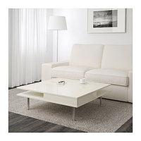 Журнальный стол ТОФТЕРИД глянцевый 95x95 см ИКЕА, IKEA, фото 1