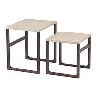 Комплект столов РИССНА 2 шт бежевый ИКЕА, IKEA, фото 1