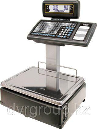 Весы электронные торговые с печатью этикеток Dibal M525D 6/15 кг