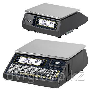 Весы электронные торговые с печатью этикеток Dibal W025F 6/15 кг без стойки, фото 2