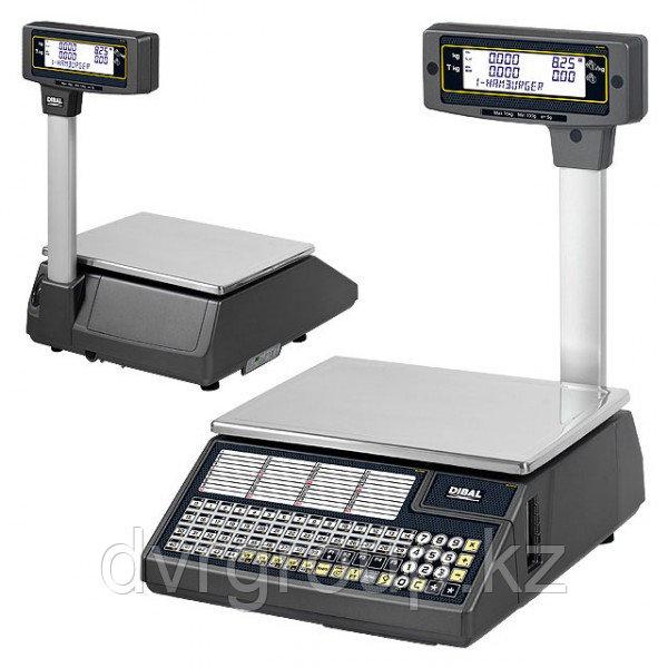 Весы электронные торговые с печатью этикеток Dibal W025T 6/15 кг со стойкой