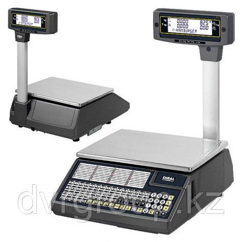 Весы электронные торговые с печатью этикеток Dibal W025T 6/15 кг со стойкой, фото 2