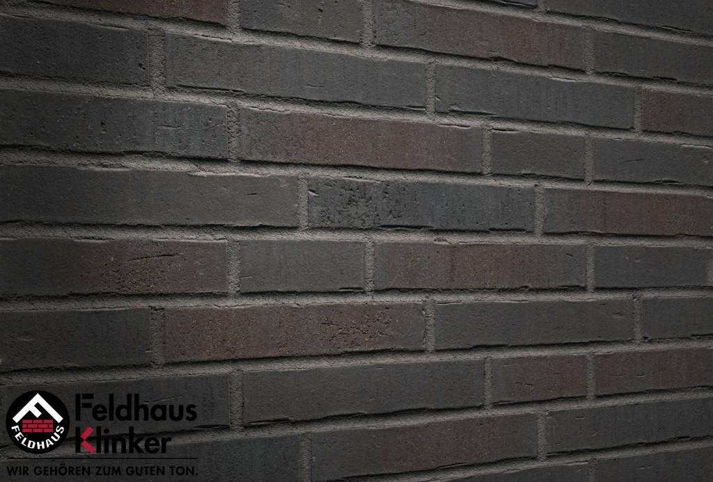 """Клинкерная плитка """"Feldhaus Klinker"""" для фасада и интерьера R737 vascu vulcano verdo"""