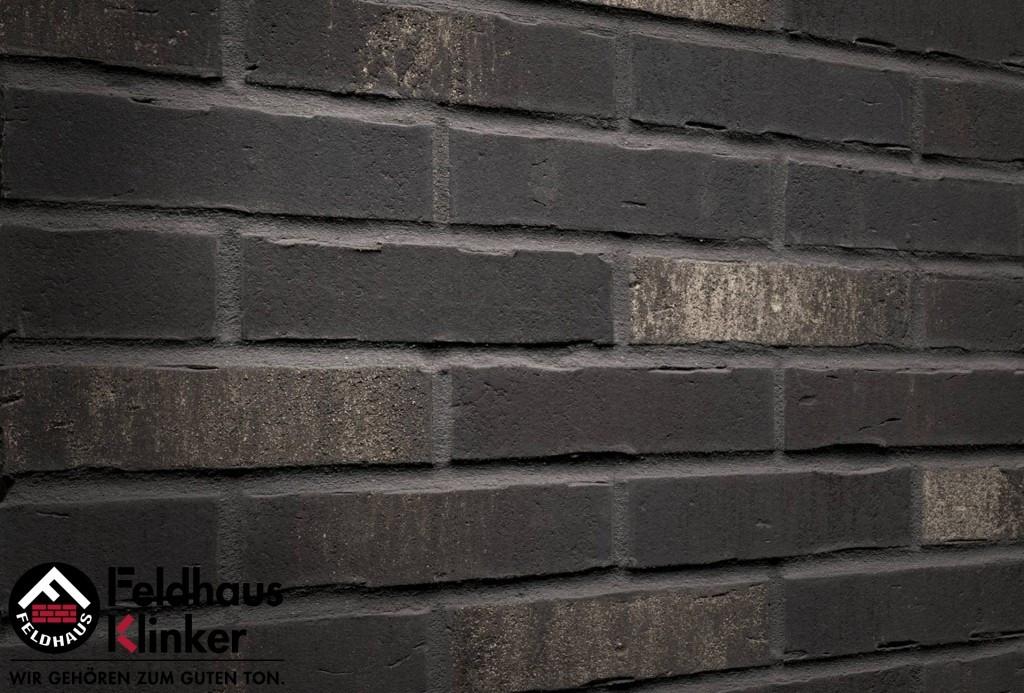 """Клинкерная плитка """"Feldhaus Klinker"""" для фасада и интерьера R739 vascu vulcano blanca"""