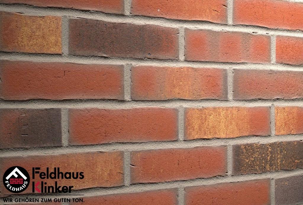 """Клинкерная плитка """"Feldhaus Klinker"""" для фасада и интерьера R744 vascu carmesi legoro"""