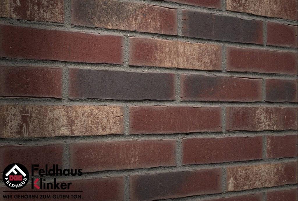 """Клинкерная плитка """"Feldhaus Klinker"""" для фасада и интерьера R746 vascu cerasi rotado"""
