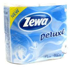 Туалетная бумага Зева - Zewa Plus белая 4шт 3сл упаковка