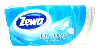 Туалетная бумага Зева - Zewa Plus белая 8шт 3слоя упаковка