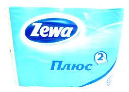 Туалетная бумага Зева - Zewa Plus 12шт 2слоя упаковка