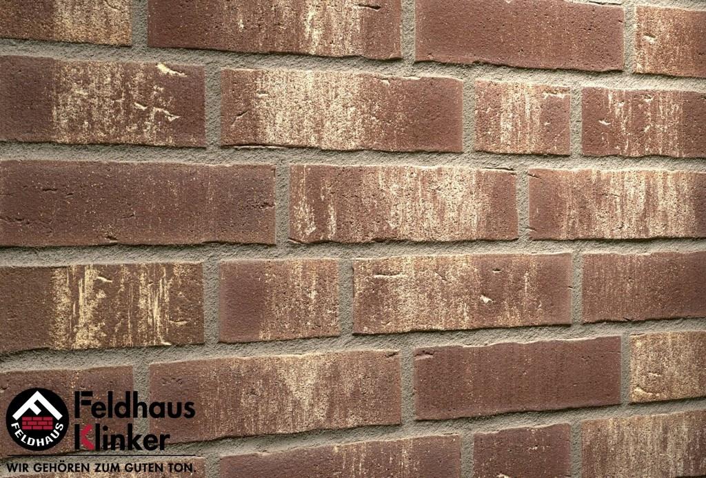 """Клинкерная плитка """"Feldhaus Klinker"""" для фасада и интерьера R749 vascu geo rotado"""