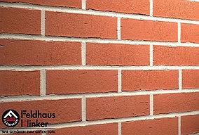 """Клинкерная плитка """"Feldhaus Klinker"""" для фасада и интерьера R751 vascu carmesi"""