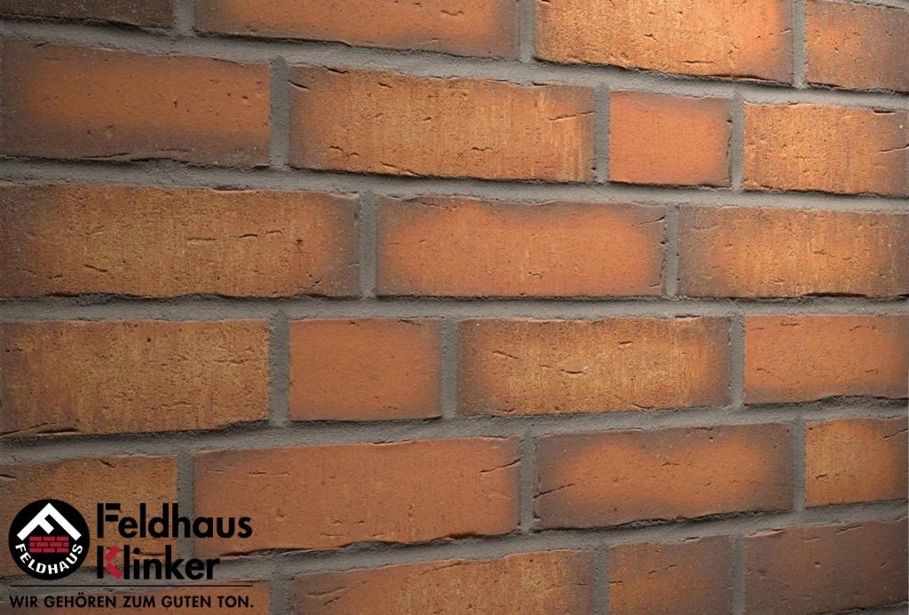 """Клинкерная плитка """"Feldhaus Klinker"""" для фасада и интерьера R758 vascu terracotta calino"""
