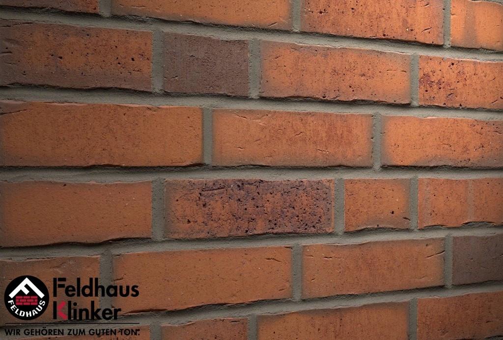 """Клинкерная плитка """"Feldhaus Klinker"""" для фасада и интерьера R765 vascu terracotta finoto"""