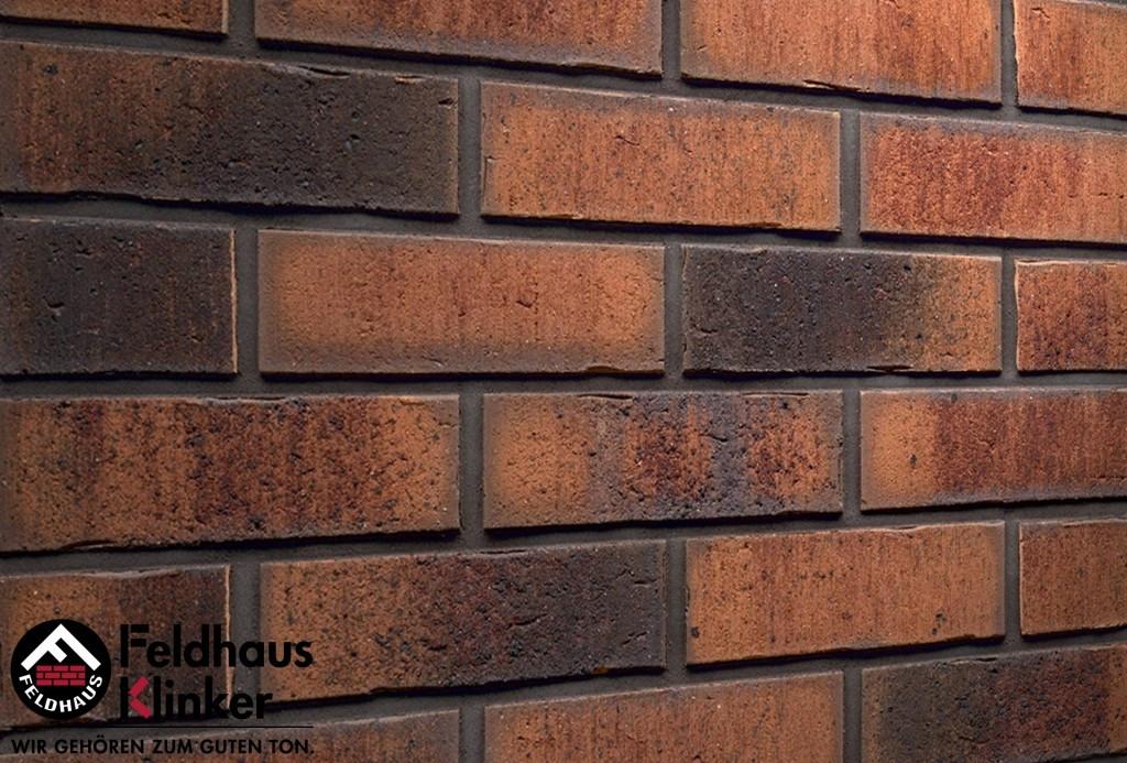 """Клинкерная плитка """"Feldhaus Klinker"""" для фасада и интерьера R767 vascu terracotta locata"""