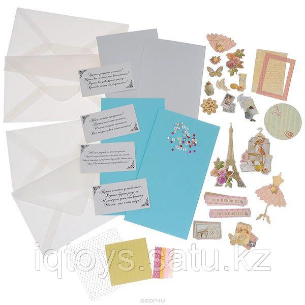 Набор для создания открыток Белоснежка Грация, 4 шт
