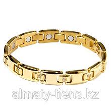 """Титановый магнитный браслет """"Тяньши"""" Gold"""