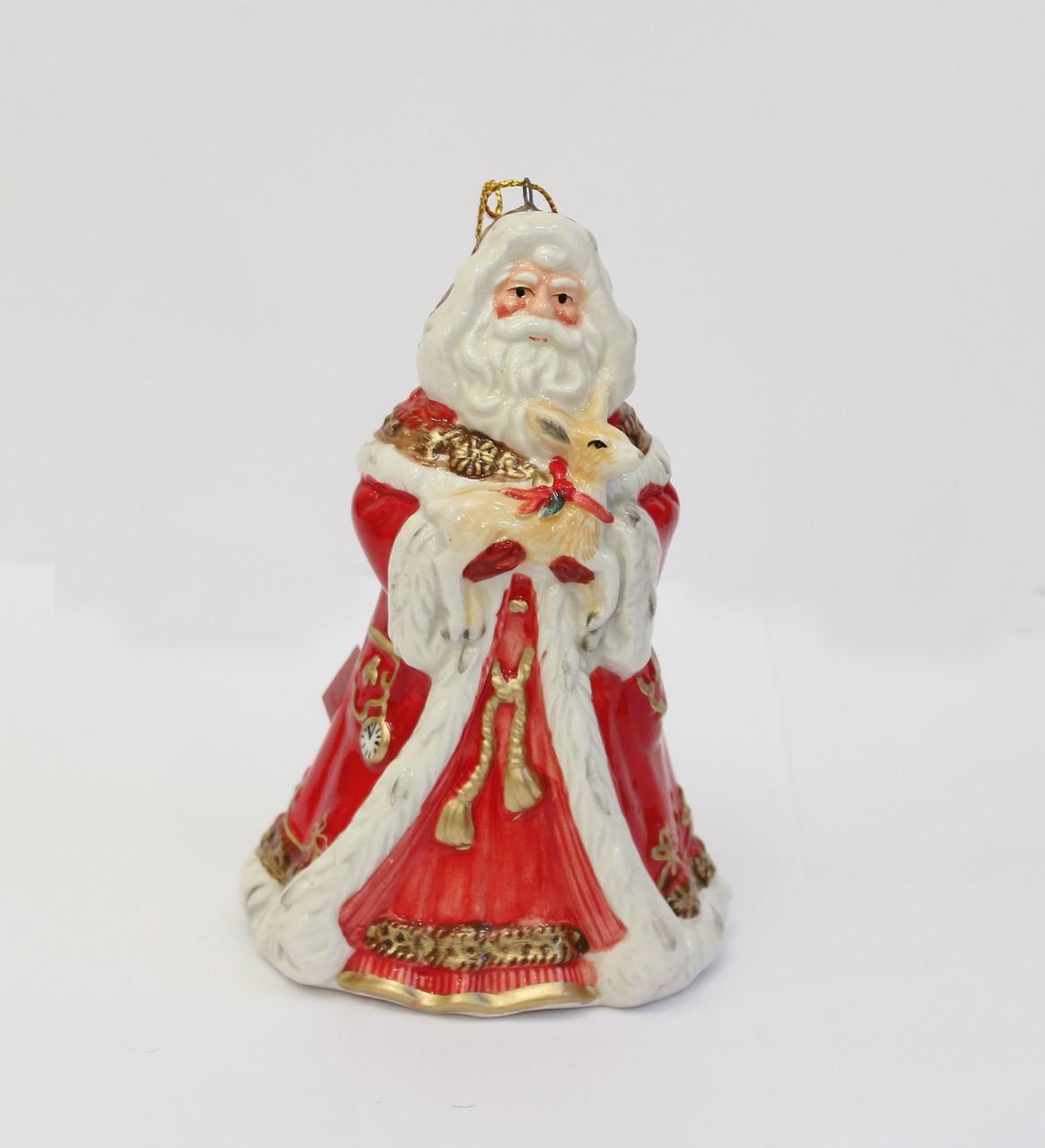Колокольчик Дед Мороз. Ручная работа, Италия