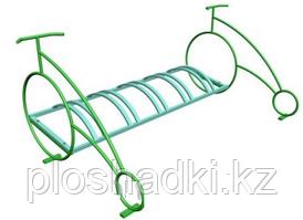 Велопарковка в виде велосипеда, низкая