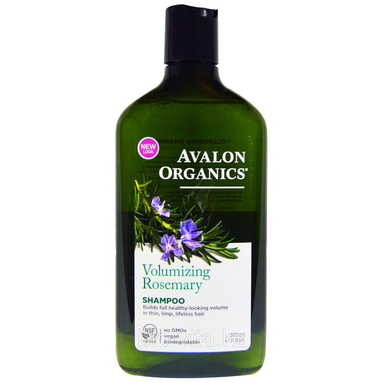 Avalon Organics, Шампунь для придания объема, розмарин,  (325 мл)