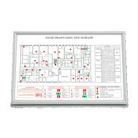 План эвакуации изготовленный на белой бумаге высокой плотности