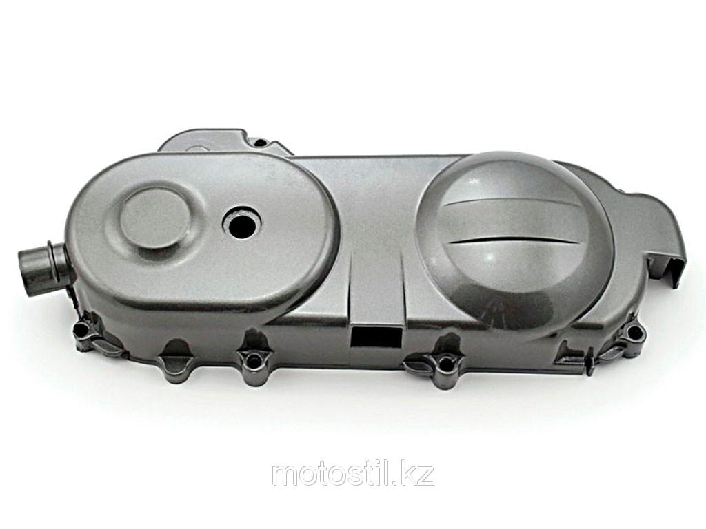 Левая крышка двигателя (крышка вариатора) под длинный полумесяц h-70 mm., база скутера с дисками на