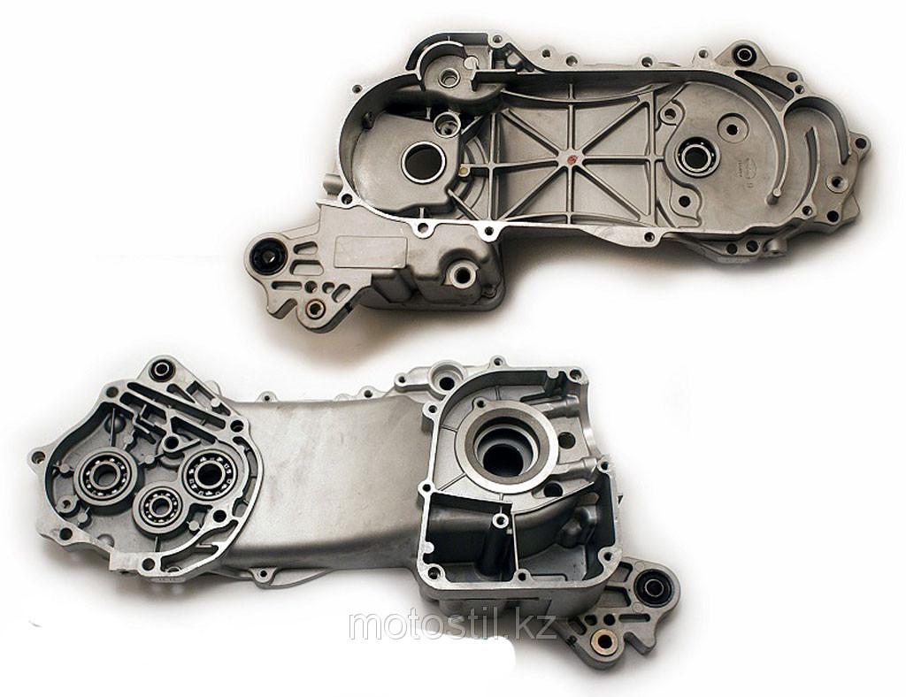 """Левая половина картера, база скутера с дисками на R-10"""" /двигатель 4T 139QMB"""